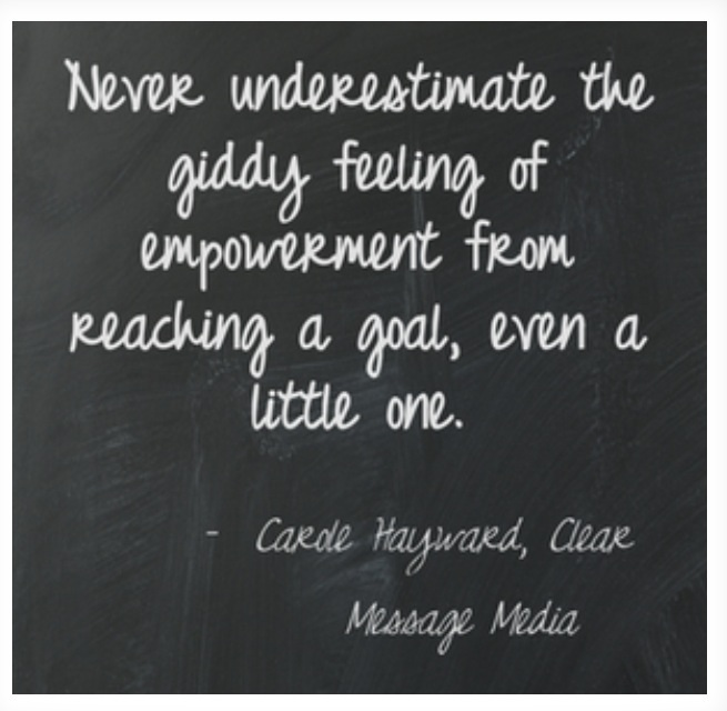 reaching goals quotes clear message media