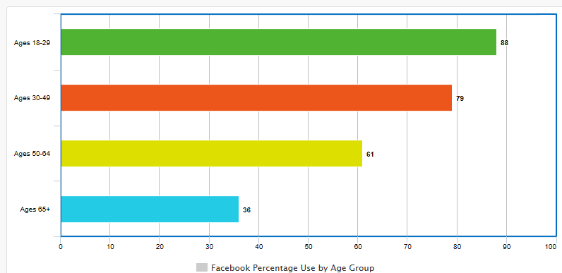 Social Media Strategy: Facebook Bar Graph